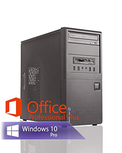 Ankermann Silent Office Business PC Intel i5 4570 4x3.20GHz HD Graphics 8GB RAM 240GB SSD 1TB HDD Windows 10 PRO Leise W-LAN Office Professional Plus 2016 (8gb Ram Desktop Computer)