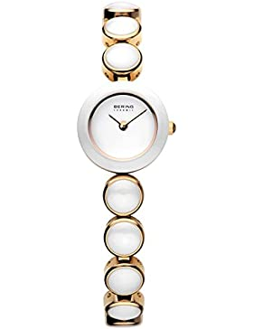 Bering Time Damen-Armbanduhr XS Ceramic Analog Quarz verschiedene Materialien 33220-751