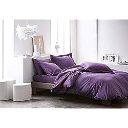 Today Drap Housse Jersey - 100% Coton - Deep purple - 140x190 cm
