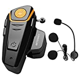 ENCHICAS 1x BT S2 Intercomunicador Casco Moto, 1000m Bluetooth Headset Motorcycle Intercom Manos Libres Moto Auriculares