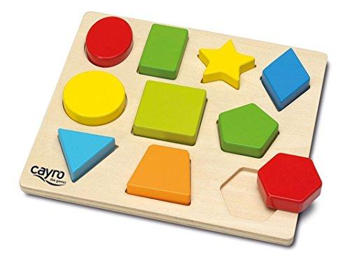 Cayro-8116 Encajes Madera Figuras geométricas 22x20cm, Multicolor (8116)