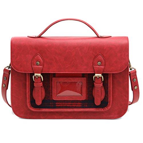 ECOSUSI Umhängetasche Damen Vintage Handtasche Crossbody Schultertasche Messenger Bag
