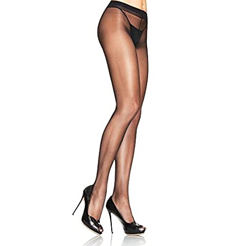Leg Avenue Lycra Sheer To Waist Support Pantyhose Tights Black