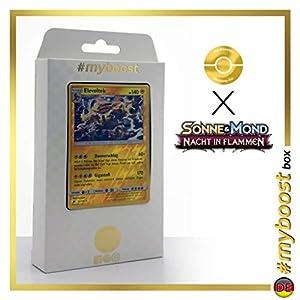 Elevoltek (Electivire) 43/147 Holo Reverse - #myboost X Sonne & Mond 3 Nacht in Flammen - Box de 10 Cartas Pokémon Aleman