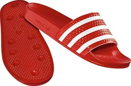 Adidas Badelatschen Adilette Unisex light scarlet-white-light scarlet, 39 -