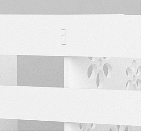 Librería Libro Stand 37.5 * 18.9 * 28.6 Cm Estilo de cajón Escritorio Estantes Ordenador Escritorio Escritorio de almacenamiento No cajón Blanco ( Color : #2 )