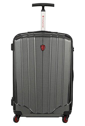 "Preisvergleich Produktbild Ellehammer Hartschalen Trolley 52 Liter, Hartschalenkoffer 24"", 64 x 27 x 45,5cm (52 Liter), Leergewicht 3,21kg, 4x 360° Rollen, TSA Schloss, silbergrau metallic"