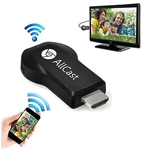 Internet Allcast Wifi Display HDMI 1080P TV Dongle Receiver Fits Smartphone Laptop TV DI
