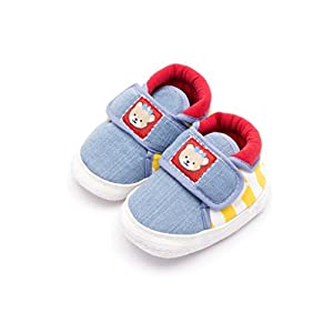 Infano Teddy Style Back Stripes Printed Baby Shoes (6-12 months,1 Pair)