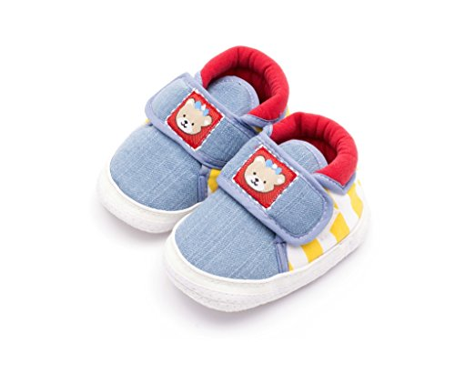 Infano Teddy Style Back Stripes Printed Yellow Color Baby Shoes...