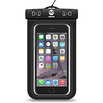 buy online f4dee 0fb1c Posterguy Waterproof Mobile Pouch Cover Smart Phone Accessory - Rain & Dust  Protection - Underwater Protection - IPX8 Certified (Black)