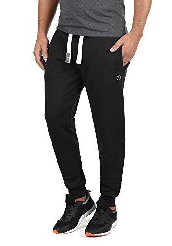 !Solid BennPant Herren Sweatpants Jogginghose Sporthose mit Fleece-Innenseite und Kordel Regular Fit, Größe:L, Farbe:Black (9000)