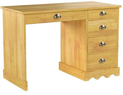 IDIMEX Schreibtisch Bürotisch Colette, honigfarben, Landhausstil