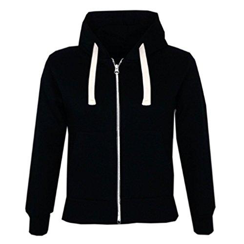 Parsa Fashions ® Kids Unisex Plain Fleece Hoodie Girls Boys Hoodied Top Sweatshirt Zipper Years 1 Years to 13 Years