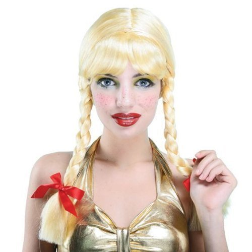 Damen Blond School Girl St. Trinians Zöpfen