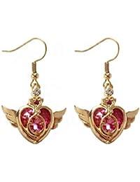 Sailor Moon Tsukino Usagi  Schwarz-Ohrringe Anhänger Haken Kawaii Geschenk