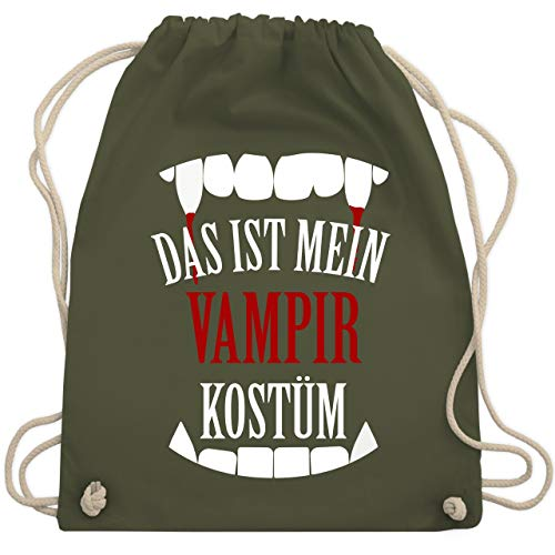 Halloween - Das ist mein Vampir Kostüm - Unisize - Olivgrün - WM110 - Turnbeutel & Gym Bag