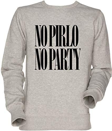 Vendax No Pirlo No Party Unisex Herren Damen Jumper Sweatshirt Grau Men's Women's Jumper Grey