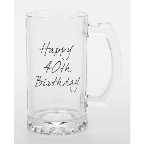 Celebrate Tankard Happy 40th Birthday-Boccale da birra in vetro