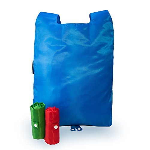 3 Roll-n-Snap? Large Reusable Grocery Bags / Shopping Tote - Compact - Strong Nylon - Foldable - Environmentally Friendly - Vibrant and Fun Colors by Roll-n-Snap Creek-snap