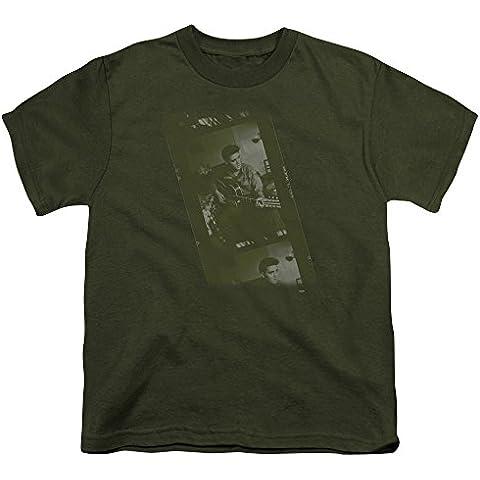 Elvis - Youth Ejército camiseta en verde militar