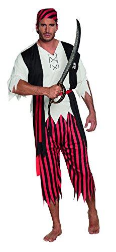 Boland 83845–Adultos Disfraz Pirata Jack, color blanco
