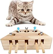 Rubik Cat Hunting Toy Wooden Catch the Mouse Motion Chase Interactive Exercise Funny Toy Puzzle Box Whack A Mole Mouse Cat P