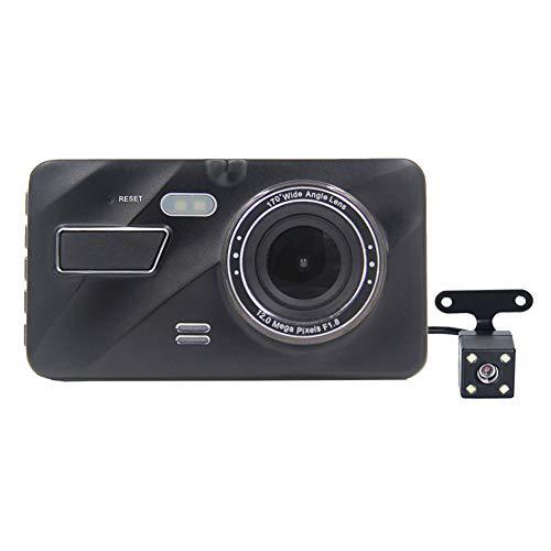Lanlan telecamera per auto,auto dash cam, video visione notturna lenti,immagine doppia in retromarcia per auto a doppia registrazione per fotocamera posteriore a doppia fotocamera da 16 pollici
