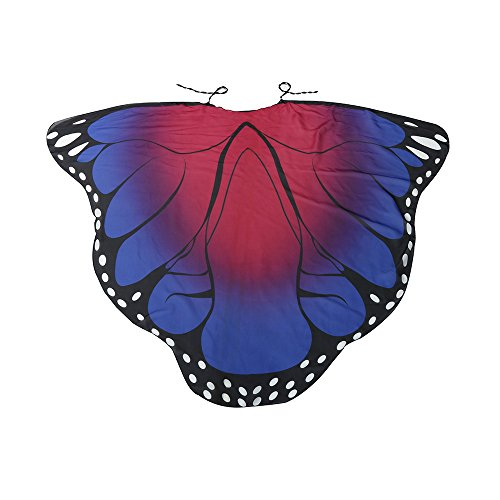 XXYsm Schmetterlingsflügel Kostüm Flügel Umhang Erwachsene Fee Damen Nymphe Schmetterling Pixie-Kostüm Heiß rosa 185 * 145CM