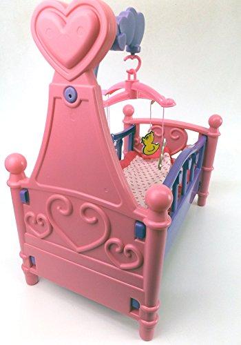 Brigamo 529 – Puppenbett mit Mobile und Bettzeug - 3