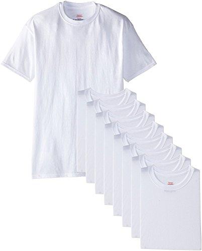 Hanes Herren 6er Pack Plus 3gratis Crew T-Shirts Gr. XX-Large, weiß (Tee Crew 6pk)