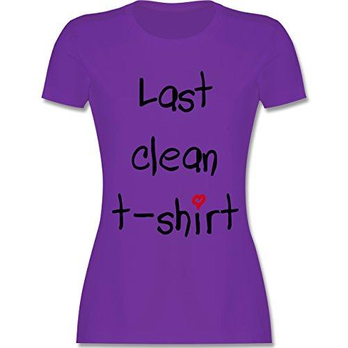 Festival - Last clean t-shirt Herzchen - tailliertes Premium T-Shirt mit Rundhalsausschnitt für Damen Lila