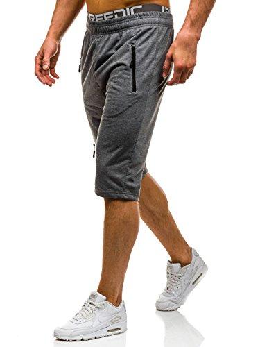 BOLF �?Pantaloncini sportivi �?Jogging �?Sport �?Fitness �?Motivo �?Uomo [7G7] Grafite