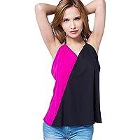 GWCSS Color De Golpe La Camiseta De Las Mujeres Del Arnés Chaleco De La Gasa De