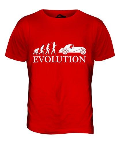 CandyMix Oldtimer Evolution Des Menschen Herren T Shirt Rot