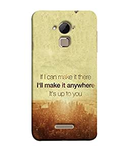 PrintVisa Its Upto You 3D Hard Polycarbonate Designer Back Case Cover for Coolpad Note 3
