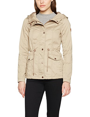 ONLY Onlkate Short Spring Parka Otw Noos, Giacca Donna, Marrone (Silver Mink), 36 (Taglia Produttore: Small)