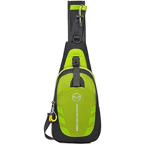 unbalance Mochila maleden antiarañazos, resistente al agua, Pack de hombro Sling Bag crossboby para Ciclismo, Running, Senderismo, Escalada y viaje Verde verde