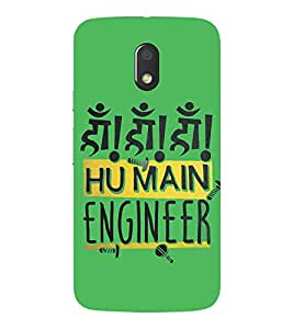 MOTOROLA MOTO E3 2016 ENGINEER QUOTE PRINTED BACK CASE COVER by SHAIVYA