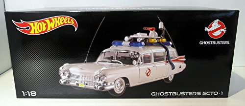 1959 Cadillac Ambulance Ecto-1 From Ghostbusters 1 Movie 1/18 by Hotwheels BCJ75 by Hot Wheels - 1 Wheels-ecto Hot