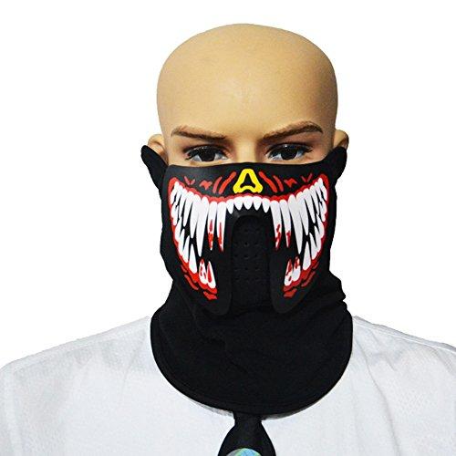 de batterie Maske Soundaktive für Cosplay Halloween Festival Party (Size : Red fangs) ()
