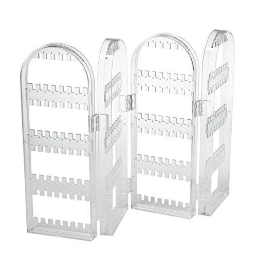 HQdeal Earrings Display & Store Holding Up To 128 Pairs Of Stud Earrings