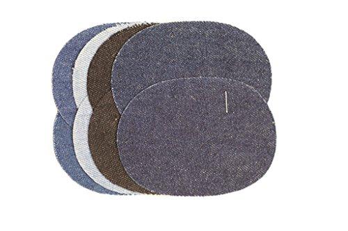 PINIDI / Kurzwaren / Bügelapplikation Flicken / Jeans 4-farbig / ca. 9,5cmx7cm / 8 Stück je Einheit