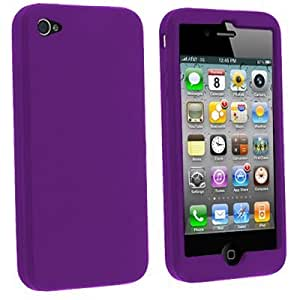iGloo Premium: Flexible Soft Silicone Skin Case for Apple iPhone 4 / 4G / 4S - Purple