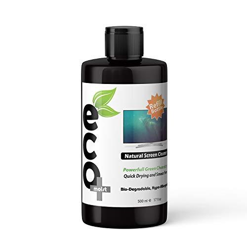 Ecomoist - Kit de limpieza de pantalla natural (500 ml) para televisor, LCD, LED, tabletas de ordenador, smartphones, ordenadores portátiles 500ml Refill Bottle