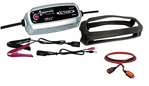 CTEK MXS 5.0 Autobatterie-Ladegerät mit automatischem Temperaturausgleich, 12 V + Bumper +