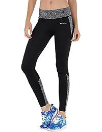 MOTORUN Pantalon Sport Femme Leggings Yoga Noir Pour Fitness