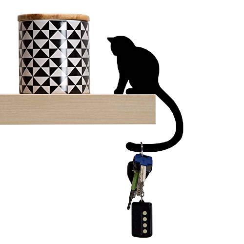 Artori Design Ad274b – précieux 'Queue – en métal Noir Chat décoratif équilibre Cintre