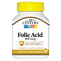21st Century Folic Acid 400 mcg - 250 Tablets
