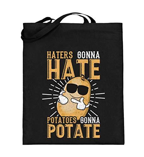 Chorchester Haters Gonna Hate für Kartoffel Fans - Jutebeutel (mit langen Henkeln)